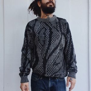 Vintage Abstract Knit Sweater